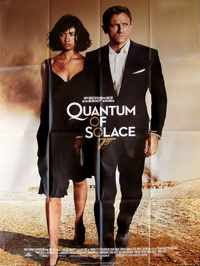 L'affiche du film James Bond quantum of solace