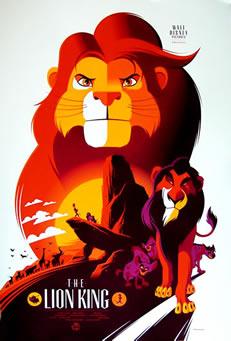 roi lion serigraphie US_2